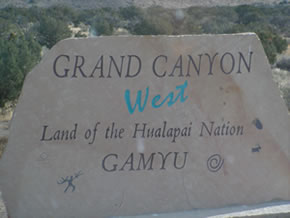 We arrived at Grand Canyon West.